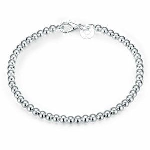Jewelry - Sterling Silver Plated Silver Bead Bracelet